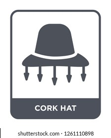cork hat icon vector on white background, cork hat trendy filled icons from Culture collection, cork hat simple element illustration