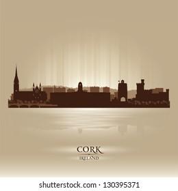 Cork Ireland skyline city silhouette
