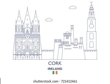 Cork Linear City Skyline, Ireland