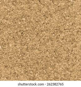 Cork texture. Vector seamless pattern. Bulletin board endless background