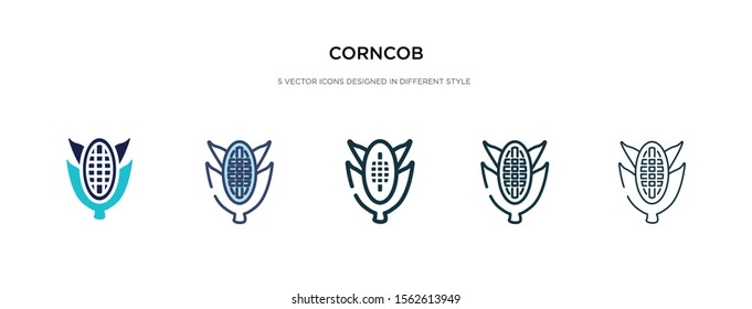 corn cob icon in different style vector illustration. two colored and black corn cob vector icons designed in filled, outline, line and stroke style can be used for web, mobile, ui