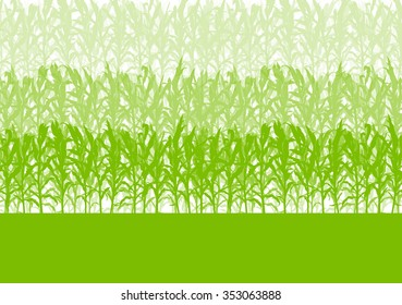 Corn field green abstract rural autumn biomass biofuel vector background