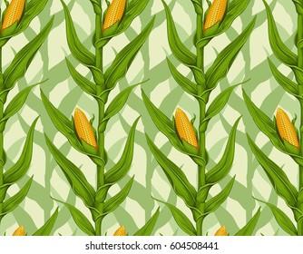 corn field seamless pattern