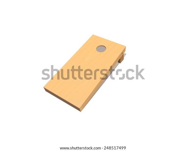 Corn Hole Board Vector