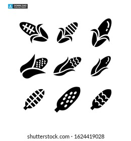 corn icon isolated sign symbol vector illustration - Collection of high quality black style vector icons