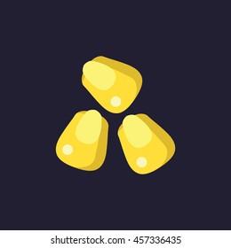 corn kernels icon in flat style