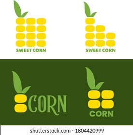 Corn logo design. Maize symbol vector illustration in flat style.