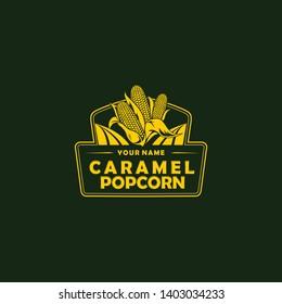 corn logo vintage design vector