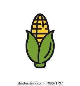 Corn. Vector icon