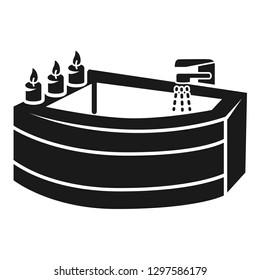 Corner bath icon. Simple illustration of corner bath vector icon for web design isolated on white background