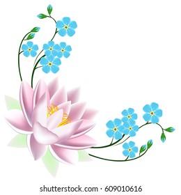 Lotus Flower Border Images Stock Photos Vectors Shutterstock