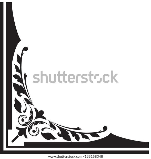 Corner Design Outlines Sharp Vector Image Stock Vector (Royalty Free