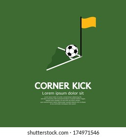 Corner Kick Vector Illustration