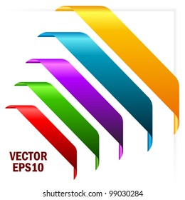 Corner ribbons, eps10 vector illustration