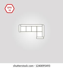 Corner Sofa Icon Images Stock Photos Vectors Shutterstock