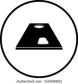 cornhole board and bag symbol