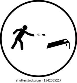 cornhole player and board symbol