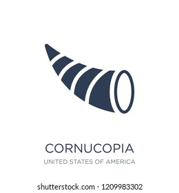 Cornucopia icon. Trendy flat vector Cornucopia icon on white background from United States of America collection, vector illustration can be use for web and mobile, eps10