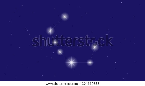 Corona Borealis Constellation Vector Illustration Stock Vector Royalty Free 1321110653