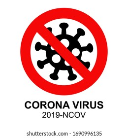 corona sign or simbol, anti covid19 corona virus, corona virus design vector