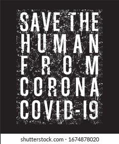 corona typography for print t shirt