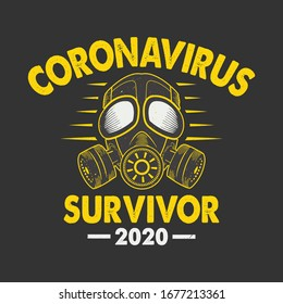 Corona Virus - Coronavirus Survivor 2020 t-shirt. vector design.