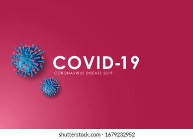 Coronavirus disease 2019 Logo für Ihre Verwendung.