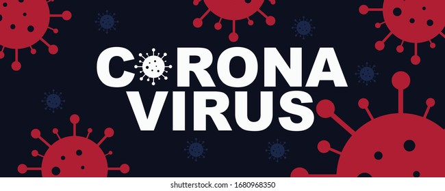 Corona Virus Illustration with red icons