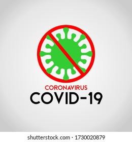 Corona Virus prevention ilustration of corona virus. Corona Virus in Wuhan, China, Global Spread, and Concept of Icon of Stopping Corona Virus