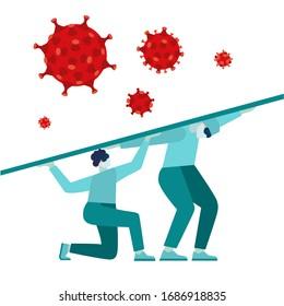 Coronavirus 2019 Flash nC0V, virus protection, vector illustration, pandemic medical health risk