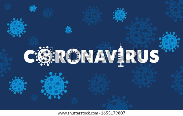 Coronavirus 2019-nCov novel coronavirus concept responsible for asian flu outbreak and coronaviruses influenza as dangerous flu strain cases as a pandemic. Microscope virus close up logo type design.
