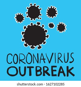 Coronavirus CoV outbreak sign element health and medical vector illustration.