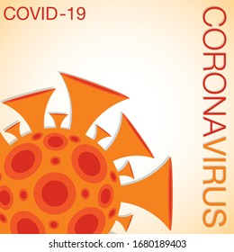 Coronavirus, covid-19, 2019-ncov sign in vector format.