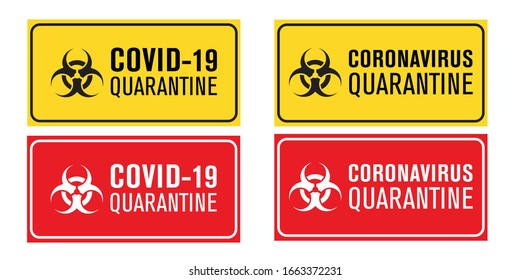 It is an image of Lucrative Quarantine Sign Printable