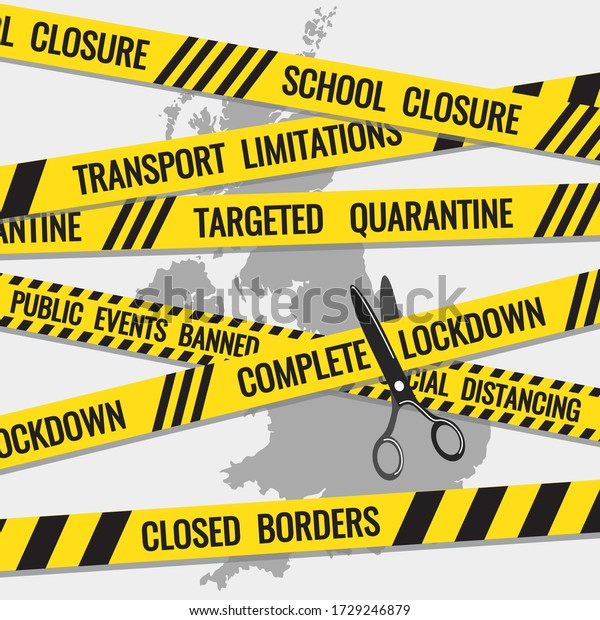 Coronavirus Covid19 Uk Lockdown Exit Strategy Stock Vector Royalty Free 1729246879