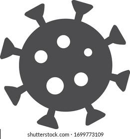Coronavirus COVID-19 virus symbol. COVID-19. Icon. vector illustration. Stock illustration.