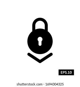 Coronavirus Lockdown Icon, Lockdown Sign/Symbol Silhouette Vector