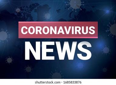 Coronavirus news, vector illustration, blog post