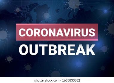 Coronavirus outbreak, vector illustration, blog post