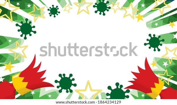 Coronavirus pandemic Christmas celebration cracker pulled open scatters covid virus cells in starburst panel