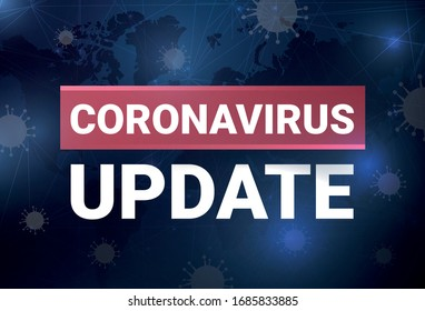 Coronavirus update, vector illustration, blog post