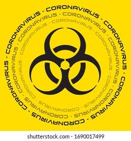 Coronavirus vector biohazard banner. COVID-19 template vector illustration. Global coronavirus pandemic. Banners of novel coronavirus COVID-19.