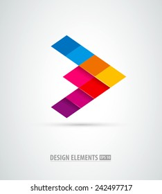Corporate abstract vector logo. Success sign. Business success
