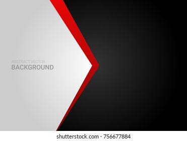 Corporate abstract vector red black grey contrast gradient background graphic design