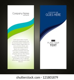 Corporate Banner sets, Cover page design, Colorful waves, eps 10