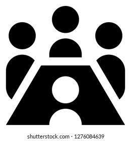 Corporate Boardroom Meeting Icon