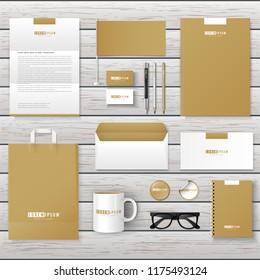Corporate Brand Identity Mockup set. Business mockup logo template.