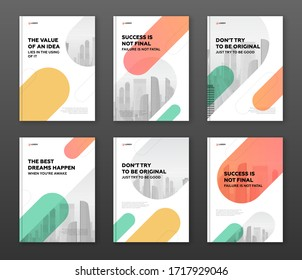 Corporate brochure cover design template for business. Good for annual report, magazine cover, poster, company profile cover, banner, leaflet, flyer.
