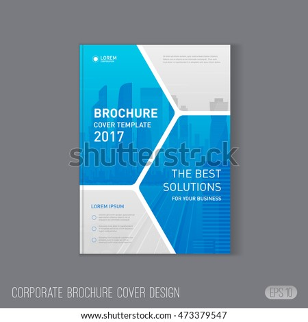 corporate brochure cover design template layout のベクター画像素材