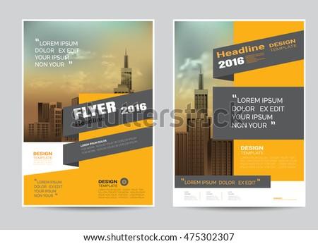 corporate brochure flyer design layout template のベクター画像素材
